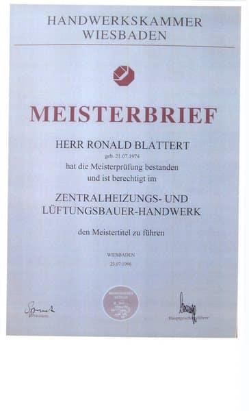 1996-07-23 Meisterbrief Zentralheizungs und Lüftungsbauer-Handwerk (Kopie)