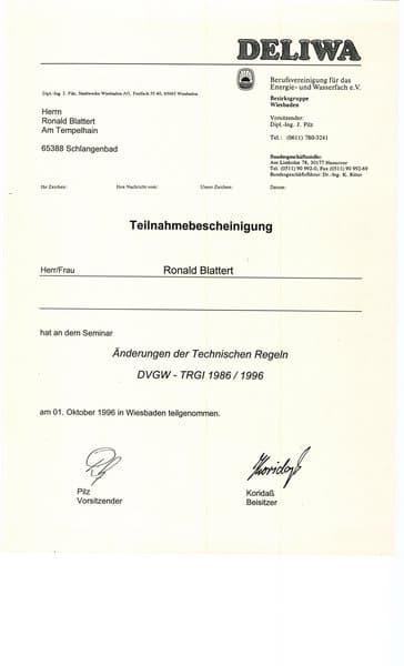 1996-10-01 Änderungen der Technischen Regeln DVGW - TRGI 1986 1996 (Kopie)