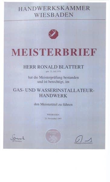 1997-11-23 Meisterbrief Gas- und Wasserinstallateur-Handwerk (Kopie)