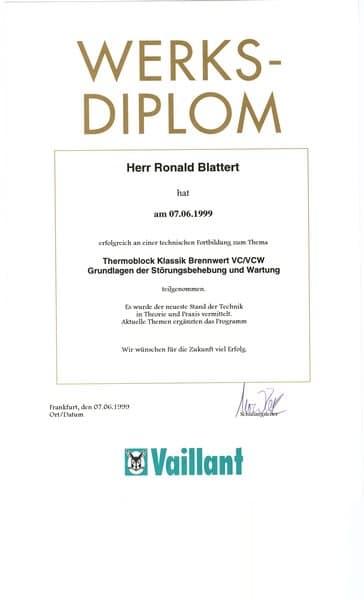 1999-06-07 Thermoblock Klassik Brennwert VC VCW Grundlagen der Störungsbehebung und Wartung (Kopie)