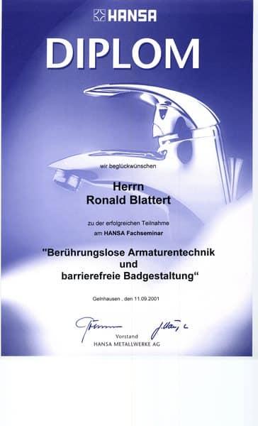 2001-09-11 Berührungslose Armaturentechnik und barrierefreie Badgestaltung (Kopie)