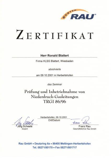 2001-10-09 Prüfung und Inbetriebnahme von Niederdruck-Gasleitungen TRGI 86 96 (Kopie)