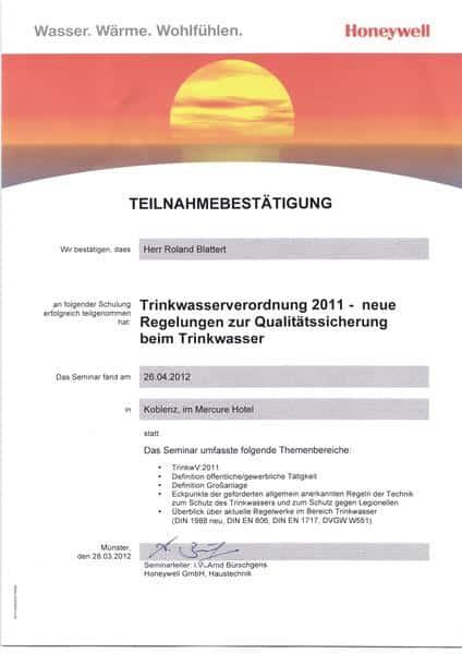 2012-04-26 Trinkwasserverordnung 2011 - neue Regelungen zur Qualitätssicherung beim Trinkwasser (Kopie)