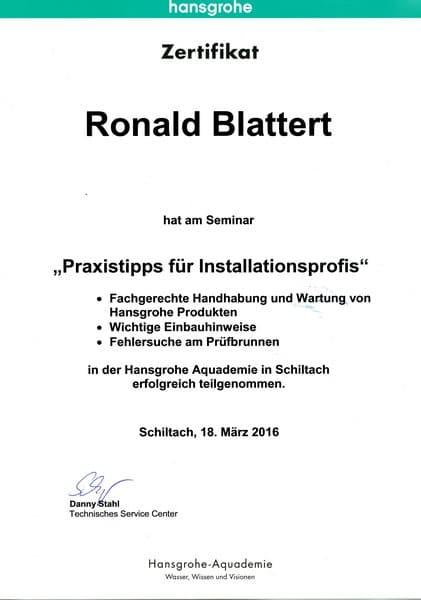 2016-03-18 Hansgrohe - Praxistipps für Installationsprofis - Blattert, Ronald (Kopie)