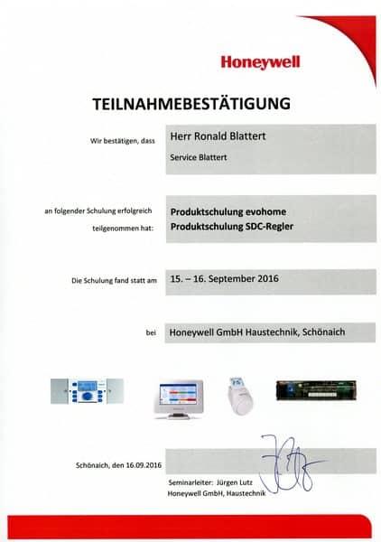 2016-09-15 und 16 Honeywell - Evohome und SDC - Regler - Blattert, Ronald (Kopie)
