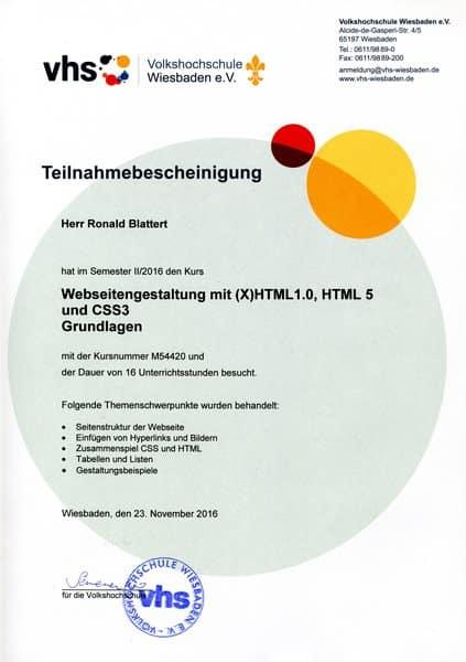 2016-11-23 Webseitengestaltung mit HTML und CSS Grundlagen - Ronald Blattert (Kopie)