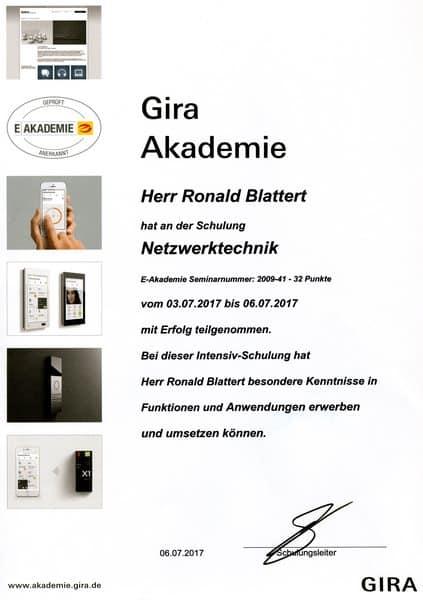 2017-07-06 Gira Akademie Netzwerktechnik I - Blattert, Ronald (Kopie)