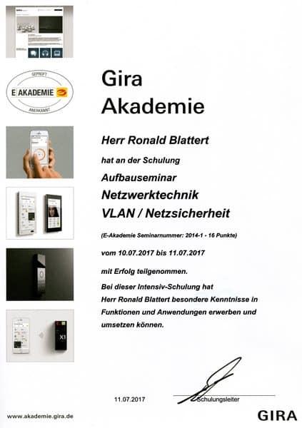 2017-07-11 Gira Akademie Netzwerktechnik II - VLAN - Netzsicherheit- Blattert, Ronald (Kopie)