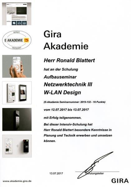 2017-07-13 Gira Akademie Netzwerktechnik III - WLAN Design - Blattert, Ronald (Kopie)