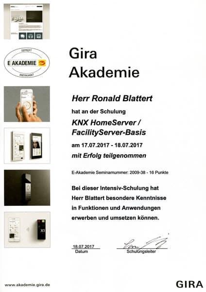 2017-07-18 GIRA - KNX HomeServer - FacilityServer-Basis - Blattert, Ronald (Kopie)