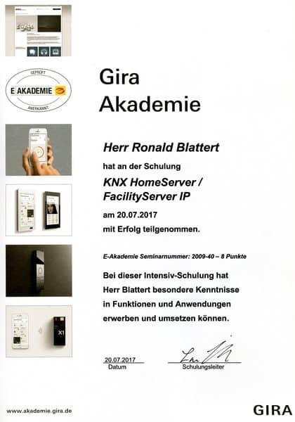 2017-07-20 GIRA - KNX HomeServer - FacilityServer IP - Blattert, Ronald (Kopie)