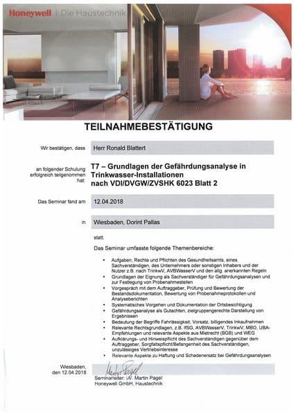 2018-04-12 Honeywell - T7 - Grundlagen der Gefährdungsanalyse in Trinkwasser-Installationen - Blattert, Ronald (Kopie)