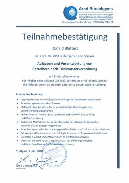 2018-05-03 Bürschgens - Aufgaben und Verantwortung von Betreibern nach Trinkwasserverordnung - Blattert, Ronald (Kopie)