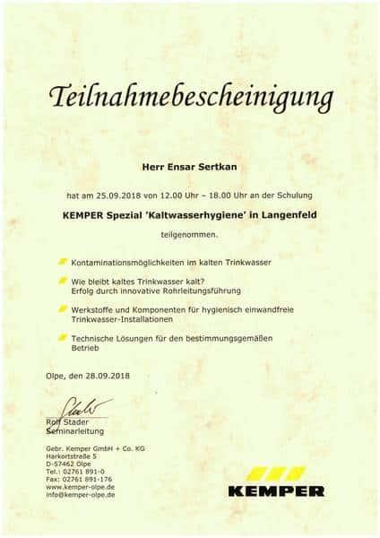 2018-09-25 KEMPER Spezial - Kaltwasserhygiene - Sertkan, Ensar (Kopie)