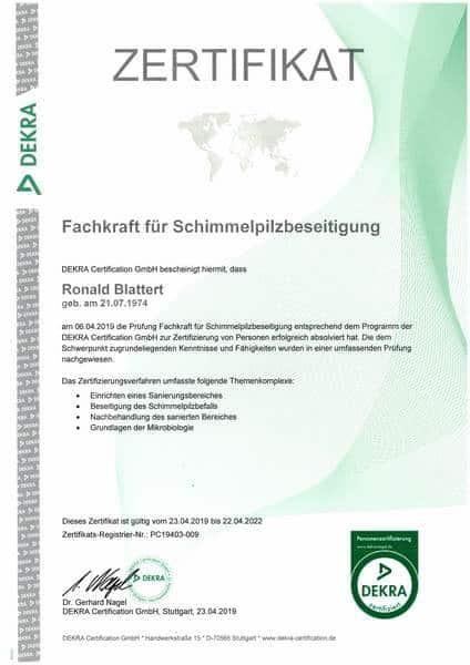 2019-04-23 DEKRA - Fachkraft für Schimmelpilzbeseitigung (Kopie)
