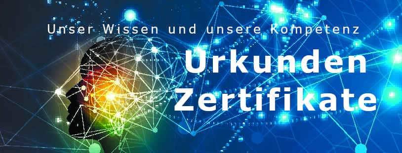 Urkunden, Auszeichnungen und Zertifikate - Unser Wissen und Kompetenz für Sie - Ihr Meisterbetrieb, Gutachter und Sachverständigenbüro.